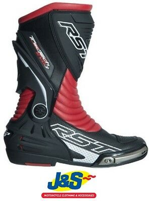 RST Tractech Evo III CE 2101 Sports Motorcycle Boots Race Racing NEW Black Red
