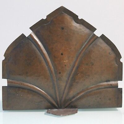 Arts and Crafts copper pair of bookends.