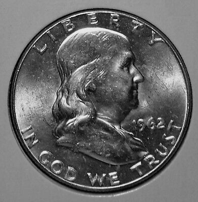 1962 P 90% Silver Franklin Half Dollar Uncirculated BU