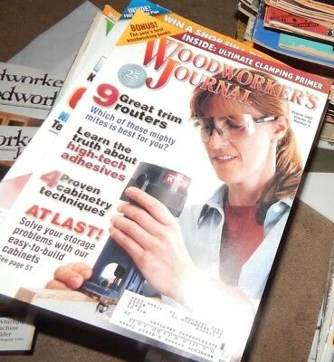 Woodworker's Journal - Lot Of Back Issues -
