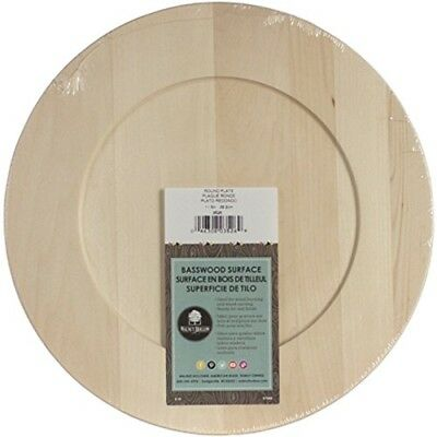 "Basswood Round Plate-11.5""x11.5"""
