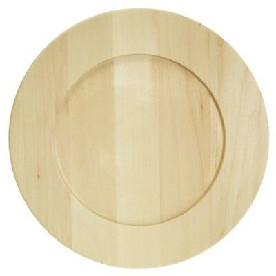 "Basswood Round Plate-9.5""x9.5"""