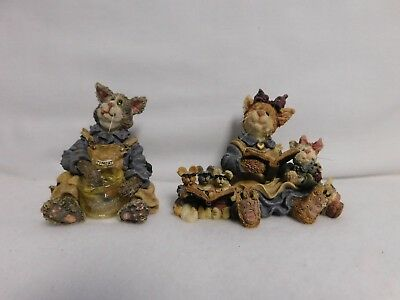 Boyds Bears & Friends ~ Group Lot Of 2 ~ The Purrstone Collection ~ Figurines