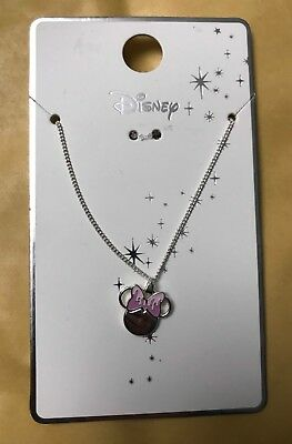 Minnie Mouse Pink Bow Necklace - Official Licenced Disney Product