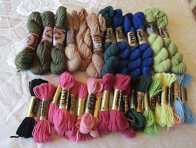 Job lot 100% DMC & Anchor Tapestry wool skeins