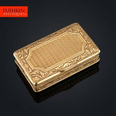ANTIQUE 19thC FRENCH 18K SOLID GOLD SNUFF BOX, LOUIS-FRANCOIS TRONQUOY c.1830