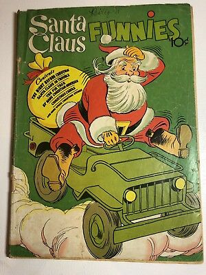 1942 Santa Claus Funnies Dell Publishing Issue No 1