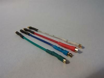 Universal Cartridge wires, Headshell / stylus leads set, OFC, Gold plated tabs