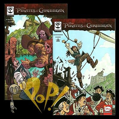 PIRATES of the CARIBBEAN #1 & #2 Comic JOE BOOKS Disney NM 2016!