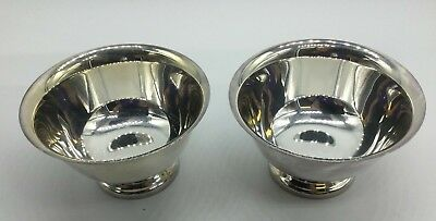 EUC Vintage Reed & Barton Paul Revere Design 2 Silver Plated Bowls Footed Base