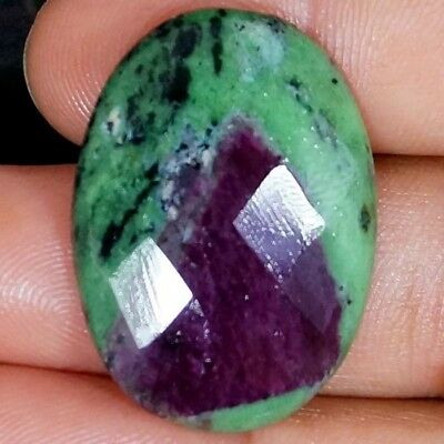 54.00Ct.100% NATURAL RED GREEN RUBY ZOISITE OVAL CUT CABOCHON AAA LOOSE GEMSTONE