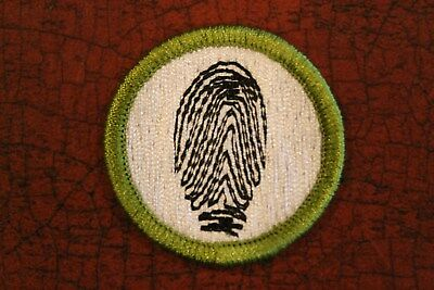 """Bsa """"finger Printing"""" Merit Badge - Official Boy Scouts"""