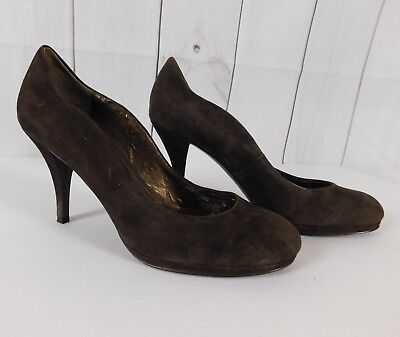 2a9bc073c4e3 TAHARI PUMPS HEELS size 6.5 solid black slip on slingback career ...