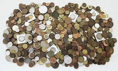 8+ POUNDS of OLD WORLD COINS > MANY COLLECTIBLES> SEE IMAGES > NO RESERVE