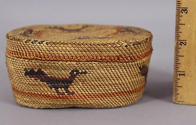 Antique Small Makah American Indian, Covered Basket, NO Reserve!