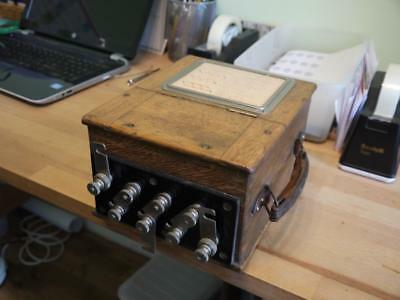 SUPERB RARE VINTAGE 1930c CASED EVERETT EDGCUMBE ELECTRIC DYNAMOMETER WATTMETER