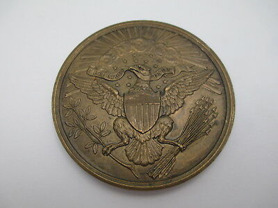 Vintage 1882 Great Seal Centennial Bronze US Medal, United States Great Seal