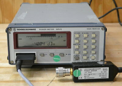 Rohde Schwarz NRVS Single-Channel Power Meter w/NRV-Z51 18GHz Thermal Sensor