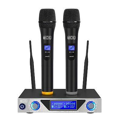 Wireless Karaoke Microphone Set Dual Handheld System High Quality Singing Device