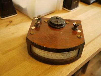 Superb Rare Vintage Rw Paul Cased Electric Unipivot Galvanometer Volt Meter