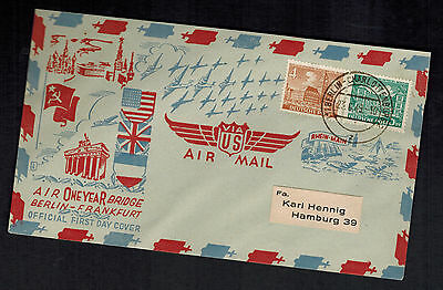 1949 Berlin West Germany one Year Air Bridge Airlift First Day Cover FDC