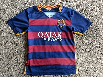 5861f479470eb Lionel Messi #10 FC Barcelona Qatar Airways Unicef Soccer Jersey Youth Size  XS/S
