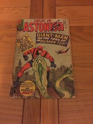 Tales To Astonish 55. Poor Cond. May 1964 Pence Copy. Giant Man / Wasp