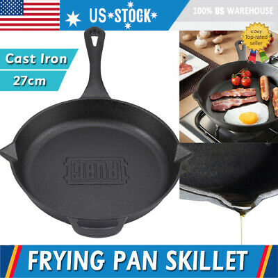 Pre-Seasoned Cast Iron Skillet Frying Pan Panful Stove Oven Cookware 10.6 inch