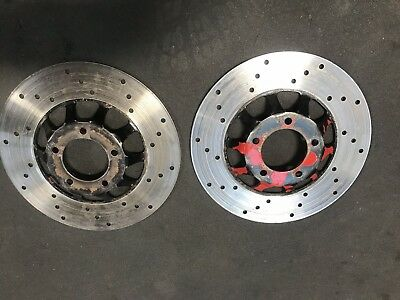 Honda CX 500 1978 - 1983 Front Drilled Brake Disc Pair
