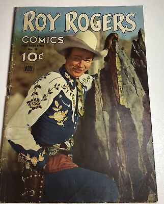 Roy Rogers Comics No 38 By Dell Publishing 1st Cowboy Cover 1944