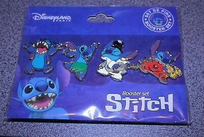 Disney Pin Stitch Disneyland Paris Booster Set Of 4 Pins Lilo