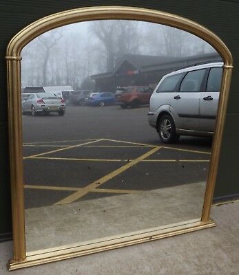 Large Gilt-Framed Overmantle Mirror in the Antique Style (125cm x 119cm)