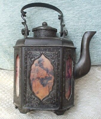 Antique Swatow Pewter Tea Pot Marked China-Ca-1920
