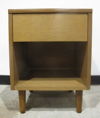 THONET MID CENTURY MODERN ONE DRAWER NIGHTSTAND bedside table