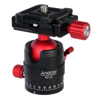 Andoer MT-C3 Compact Size Panoramic Tripod Ball Head Adapter 360° Rotation L7L1