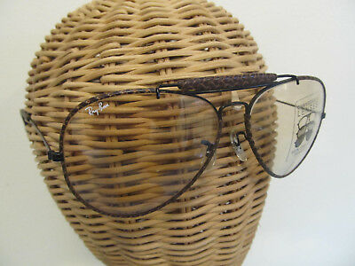 Vintage Ray Ban by Bausch & Lomb Shooter Aviator-Special Edition 'Leathers' NOS!