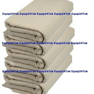 3 X Heavy Duty 10Ft X 8Ft Cotton Twill Professional Decorating Large Dust Sheets