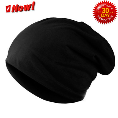 AKIZON Beanie Hat Skull Cap Baggy Thin Soft Slouchy for Men Women Solid  Color 4fd8fe89303a