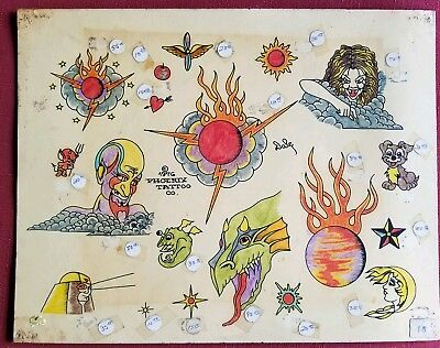 vintage phoenix co 70s produx tattoo monster demon cosmic freaky flash, rk color