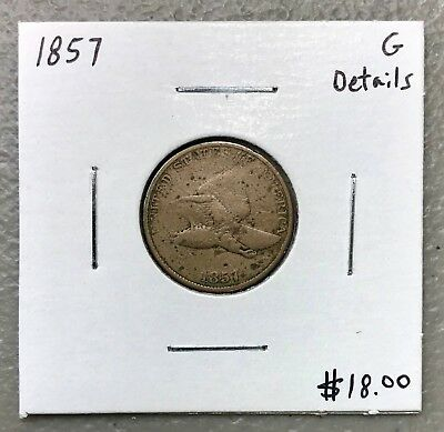 1857 U.s. Flying Eagle Penny Cent ~ Good Details! $2.95 Max Shipping! C1148