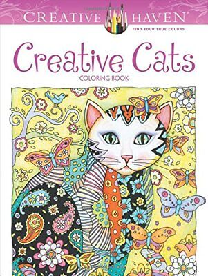 Creative Haven Coloring Bks: Creative Haven Creative Cats Coloring Book-Marjorie
