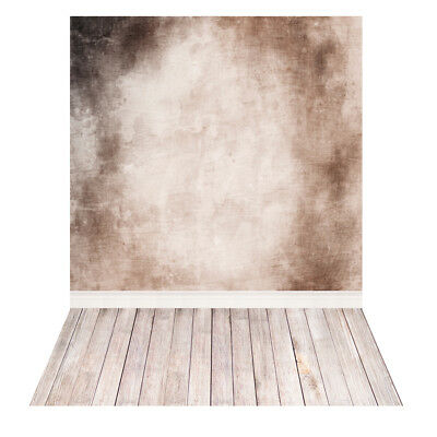 Andoer Photography Backdrop Wall WoodenFloor for Baby Studio Portrait Shoot O6H9