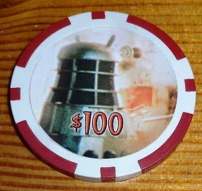Dr Who Big Screen Additions $100 Case Topper Collector Casino Chip Strictly Ink