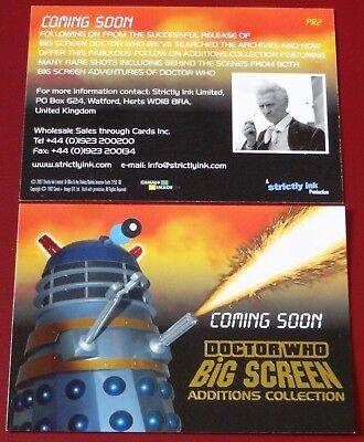Doctor Who Big Screen Additions Rare Gold Foil Stamped Promo Card PR2 (2008)