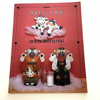 Holy Cow I'm In The Mood To Paint Kim Russell Cows Tole Painting Pattern Book