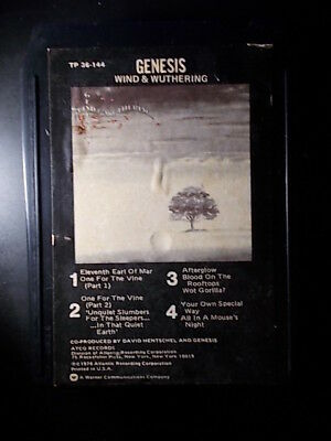 8-Track / 8-Spur Tonband /Cartridge :   Genesis - Wind and Wuthering