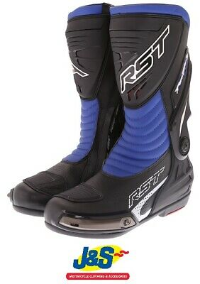 RST Tractech Evo III CE 2101 Sports Motorcycle Boots Race Racing NEW Blue J&S