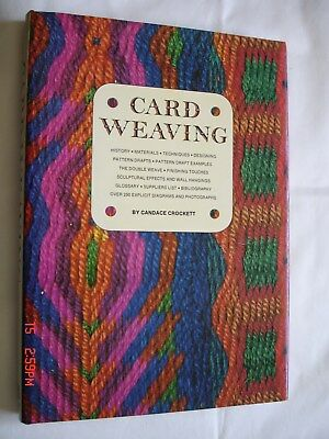 CARD WEAVING by Candace Crockett  ~ First Ed ~ Hardcover ~1973 ~