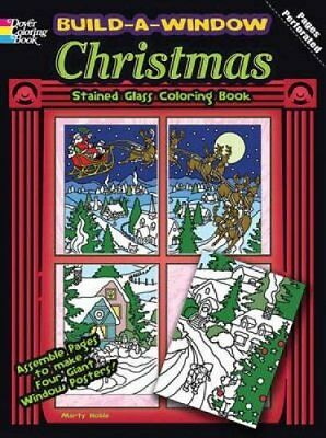Build Window Stained Glass Coloring Book: Christmas by Marty Noble