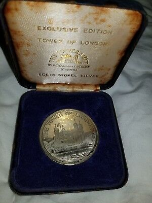 Tower Of London 1981 Solid Nickel Silver Coin